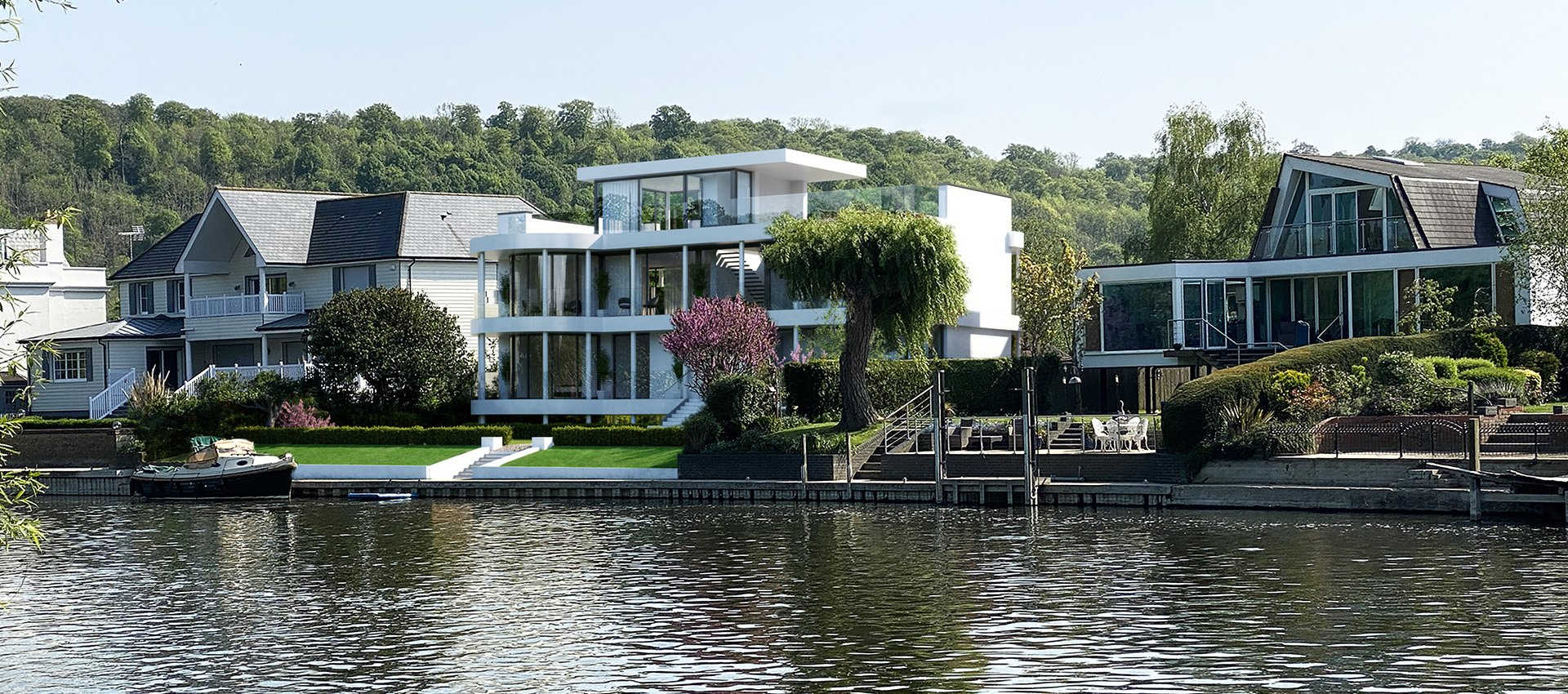 Contemporary residence on the Thames, Buckinghamshire